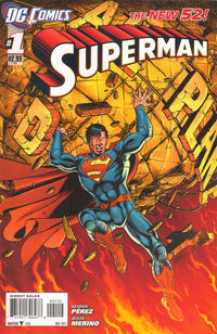 Cover Thumbnail for Superman (DC, 2011 series) #1 [Second Printing]