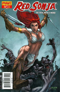 Cover Thumbnail for Red Sonja (Dynamite Entertainment, 2005 series) #38 [Cover A]