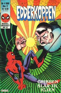 Cover Thumbnail for Edderkoppen (Semic, 1984 series) #4/1986