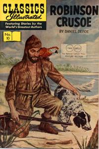 Cover Thumbnail for Classics Illustrated (Gilberton, 1947 series) #10 [HRN 140] - Robinson Crusoe [Twin Circle]