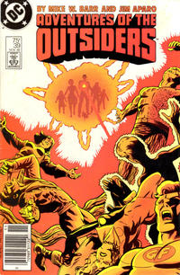 Cover Thumbnail for Adventures of the Outsiders (DC, 1986 series) #39 [Newsstand Edition]