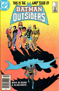 Cover Thumbnail for Batman and the Outsiders (DC, 1983 series) #32 [Newsstand]