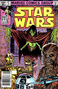 Cover Thumbnail for Star Wars (Marvel, 1977 series) #67 [Newsstand]