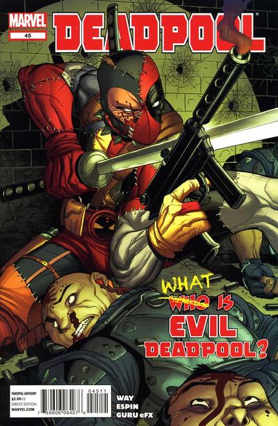 Cover for Deadpool (Marvel, 2008 series) #45