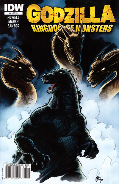 Cover for Godzilla: Kingdom of Monsters (IDW, 2011 series) #8 [Matt Frank RI cover]