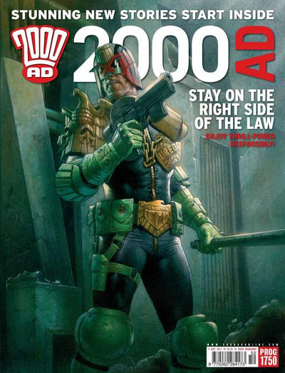 Cover for 2000 AD (Rebellion, 2001 series) #1750
