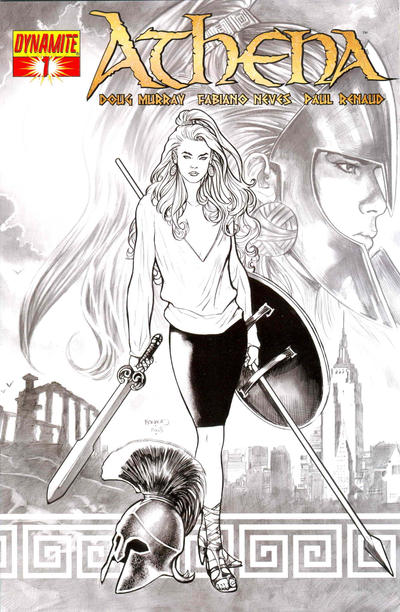 Cover for Athena (Dynamite Entertainment, 2009 series) #1 [Incentive Cover Renaud B&W]