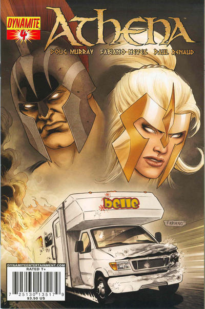 Cover for Athena (Dynamite Entertainment, 2009 series) #4 [Cover A Paul Renaud]