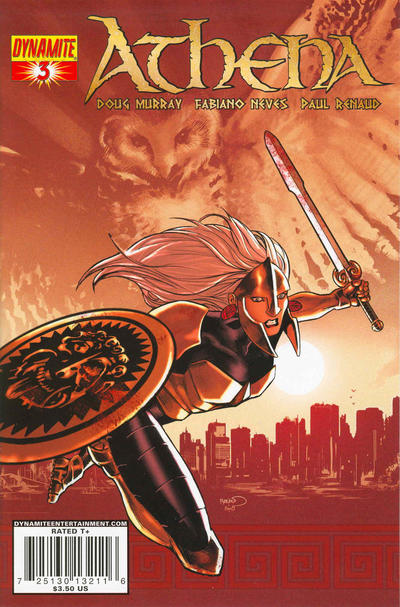 Cover for Athena (Dynamite Entertainment, 2009 series) #3 [Cover B Fabiano Neves]
