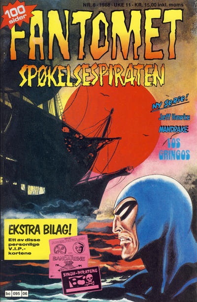 Cover for Fantomet (Semic, 1976 series) #6/1988