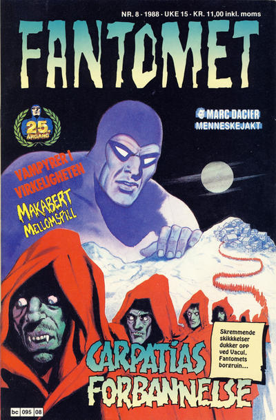 Cover for Fantomet (Semic, 1976 series) #8/1988