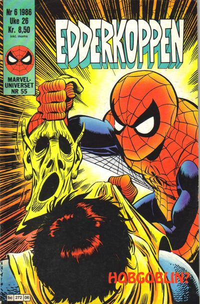 Cover for Edderkoppen (Semic, 1984 series) #6/1986