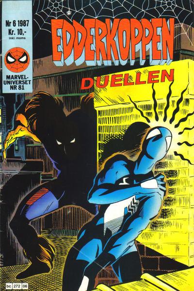 Cover for Edderkoppen (Semic, 1984 series) #6/1987