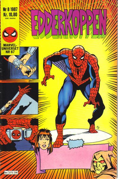 Cover for Edderkoppen (Semic, 1984 series) #8/1987