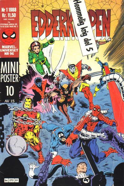 Cover for Edderkoppen (Semic, 1984 series) #1/1988