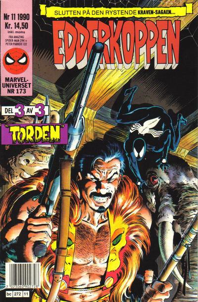Cover for Edderkoppen (Semic, 1984 series) #11/1990
