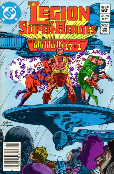Cover for The Legion of Super-Heroes (DC, 1980 series) #287 [Newsstand]