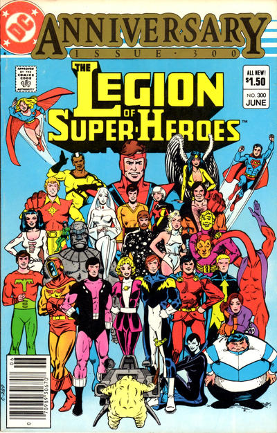 Cover for The Legion of Super-Heroes (DC, 1980 series) #300 [Newsstand]