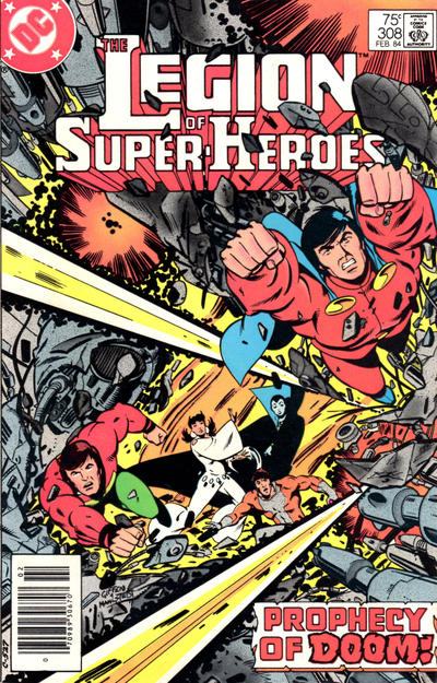 Cover for The Legion of Super-Heroes (DC, 1980 series) #308 [Direct-Sales]
