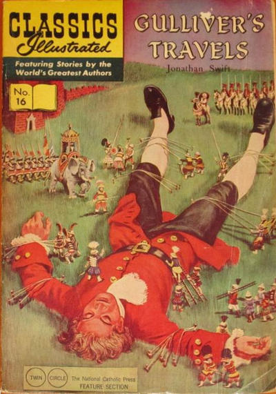 Cover for Classics Illustrated (Gilberton, 1947 series) #16 [HRN 167] - Gulliver's Travels [Painted Cover]