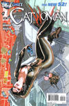 Cover for Catwoman (DC, 2011 series) #1 [2nd Printing - Red Background]