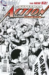 Cover for Action Comics (DC, 2011 series) #3 [Rags Morales Black & White Cover]