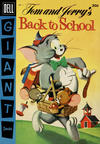 Cover for Tom and Jerry's Back to School (Dell, 1956 series) #1 [Canadian edition]