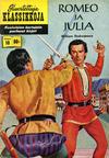 Cover for Kuvitettuja Klassikkoja (Kuvajulkaisut, 1956 series) #10 - Romeo ja Julia