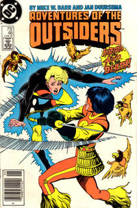 Cover Thumbnail for Adventures of the Outsiders (DC, 1986 series) #46 [Newsstand Edition]