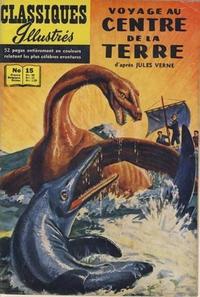 Cover Thumbnail for Classiques Illustrés (Publications Classiques Internationales, 1957 series) #15 - Voyage au centre de la Terre