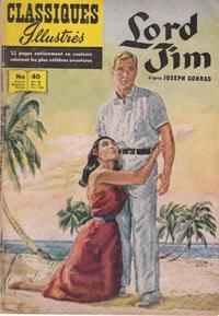 Cover Thumbnail for Classiques Illustrés (Publications Classiques Internationales, 1957 series) #40 - Lord Jim