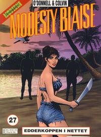 Cover Thumbnail for Modesty Blaise (Hjemmet / Egmont, 1998 series) #27 - Edderkoppen i nettet [Reutsendelse bc 512 12]