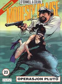 Cover Thumbnail for Modesty Blaise (Hjemmet / Egmont, 1998 series) #23 - Operasjon Pluto [Reutsendelse bc 382 13]