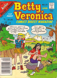 Cover for Betty and Veronica Comics Digest Magazine (Archie, 1983 series) #20 [Canadian]