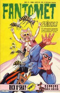 Cover Thumbnail for Fantomet (Semic, 1976 series) #17/1988