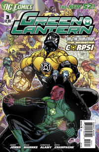 Cover Thumbnail for Green Lantern (DC, 2011 series) #3 [Direct Sales]