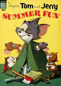 Cover Thumbnail for M-G-M's Tom & Jerry's Summer Fun (Dell, 1954 series) #1 [Canadian]