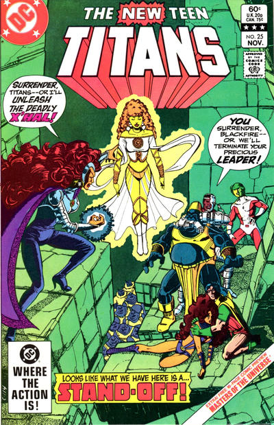 Cover for The New Teen Titans (DC, 1980 series) #25 [Direct]