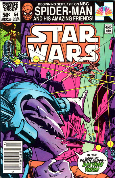 Cover for Star Wars (Marvel, 1977 series) #54 [Direct Edition]
