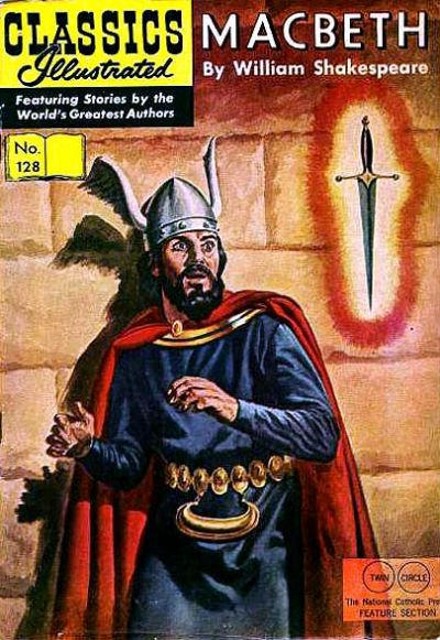 Cover for Classics Illustrated (Gilberton, 1947 series) #128 [HRN 166] - Macbeth [Twin Circle]