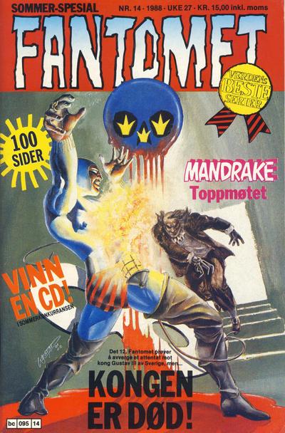 Cover for Fantomet (Semic, 1976 series) #14/1988