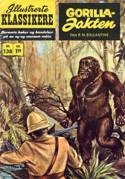 Cover for Illustrerte Klassikere [Classics Illustrated] (Illustrerte Klassikere / Williams Forlag, 1957 series) #138 - Gorillajakten