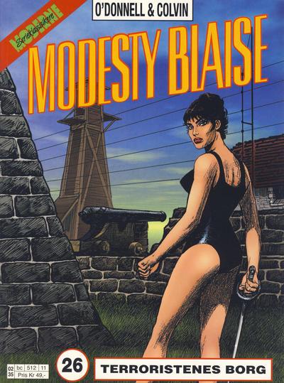 Cover for Modesty Blaise (Hjemmet / Egmont, 1998 series) #26 - Terroristenes borg [Reutsendelse bc 512 11]