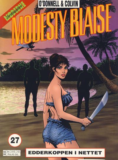 Cover for Modesty Blaise (Hjemmet / Egmont, 1998 series) #27 - Edderkoppen i nettet