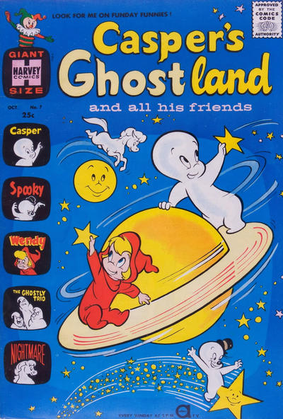 Cover for Casper's Ghostland (Harvey, 1959 series) #7