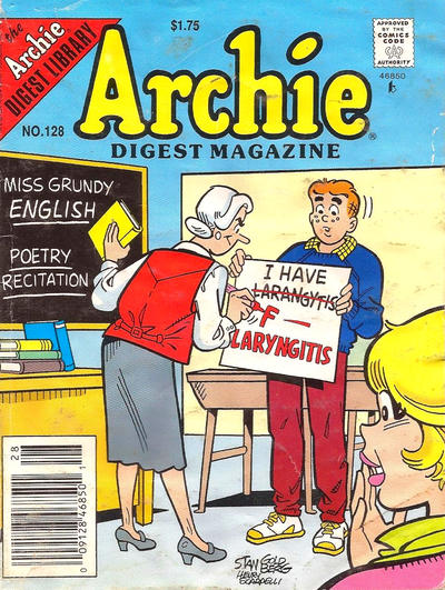 Cover for Archie Comics Digest (Archie, 1973 series) #128