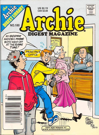 Cover for Archie Comics Digest (Archie, 1973 series) #180