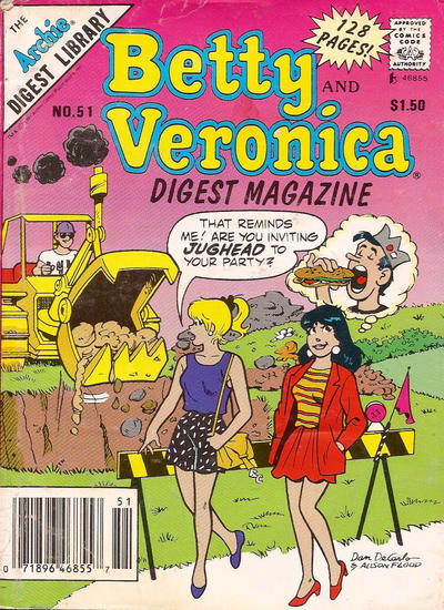 Cover for Betty and Veronica Comics Digest Magazine (Archie, 1983 series) #51