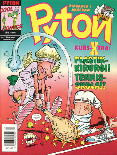 Cover for Pyton (Atlantic Förlags AB, 1990 series) #5/1991