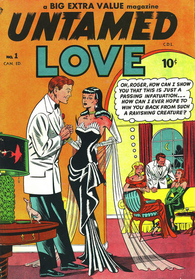 Cover for Untamed Love (Bell Features, 1950 series) #1